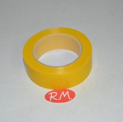 Cinta adhesiva aislante PVC amarilla 10 x 19 mm