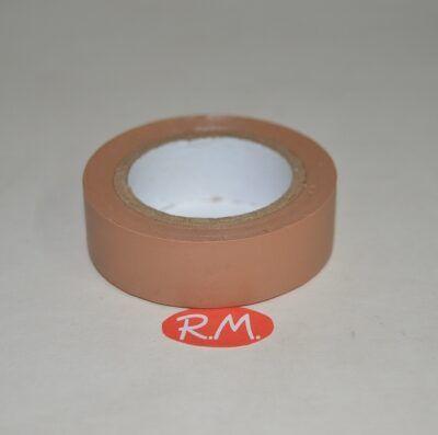 Cinta adhesiva aislante PVC marrón 10 x 19 mm