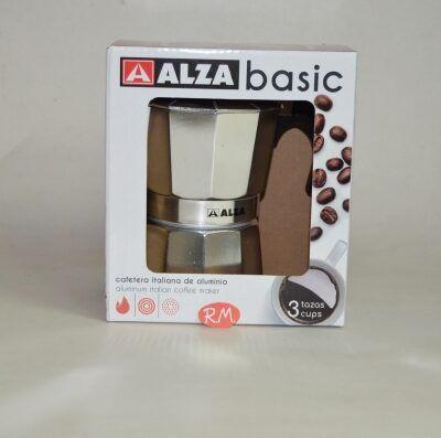 Cafetera aluminio 3 tazas Alza basic