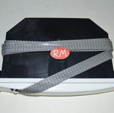 Recogedor persiana embutir blanco cinta gris 14 mm