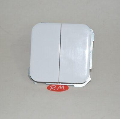 Doble interruptor Simón 31 31398-30 blanco