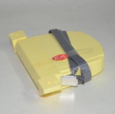 Recogedor persiana abatible marfil cinta 14 mm gris
