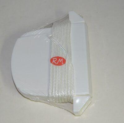 Recogedor persiana abatible blanco cordón 4 mm blanco