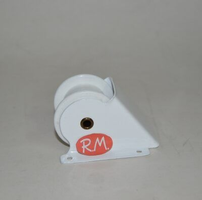 Polea con cojinete persiana rodillo plástico blanco 69 x 53 mm
