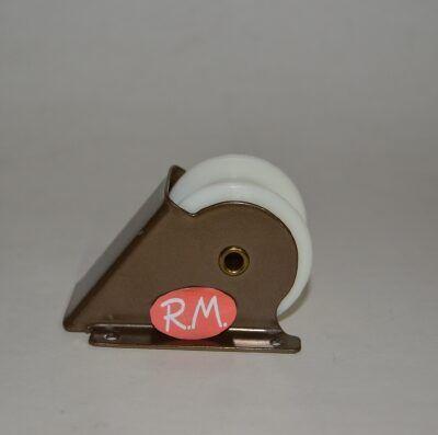 Polea con cojinete persiana rodillo plástico bronce 69 x 53 mm