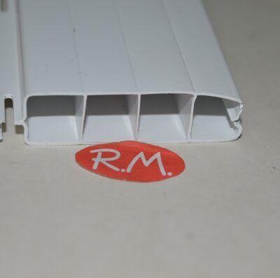Lama persiana pvc 200 cm x 50 mm blanca