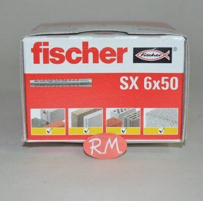 Taco Fischer de expansión SX 6x50 caja 100 unidades
