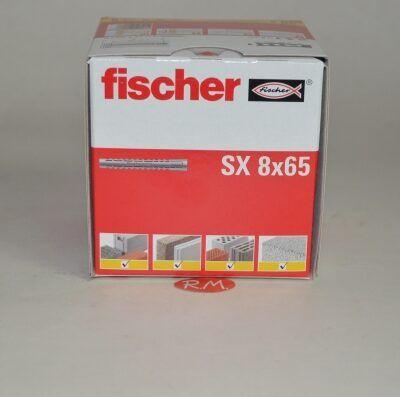 Taco Fischer de expansión SX 8x65 caja 50 unidades