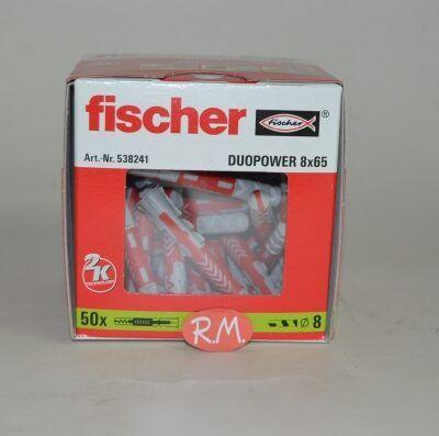 Fischer caja 50 tacos duopower 8 x 65 Largo