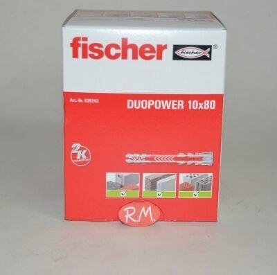 Fischer caja 25 tacos duopower 10 x 80 Largo