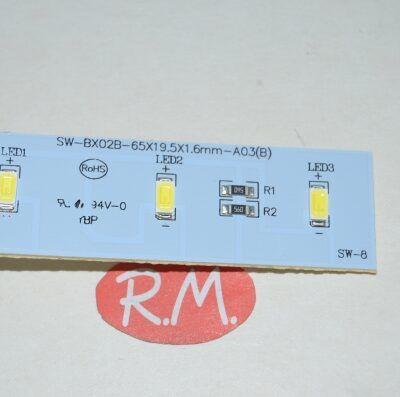 Módulo luz led frigorífico Daewoo 3050400025