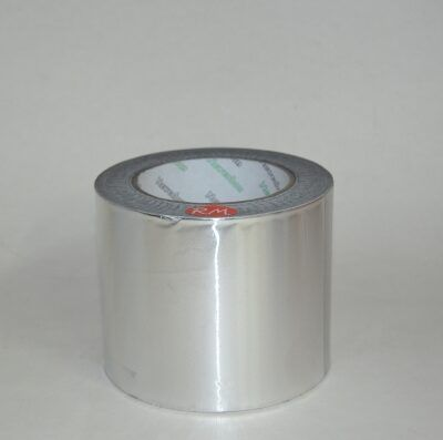 Rollo cinta aluminio adhesiva 30 micras 10 metros 100 mm