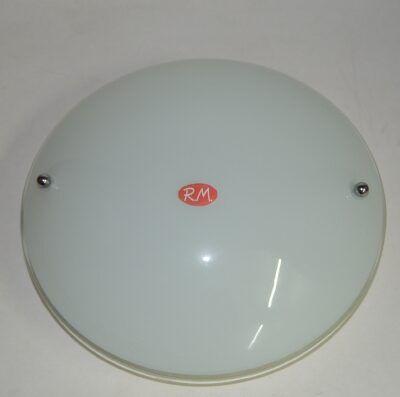 Plafón redondo cristal opal de techo 1 x E-27