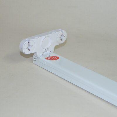 Regleta fluorescente 2 tubos de led 18w vistos