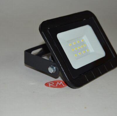 Proyector led plano negro 10W 6400K