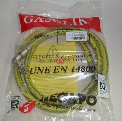 Tubo gas natural presinox M - M 1/2 2000 mm