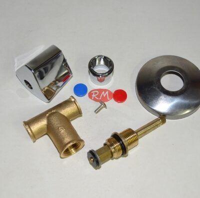 Llave de control de paso de agua empotrar soldar 15 mm