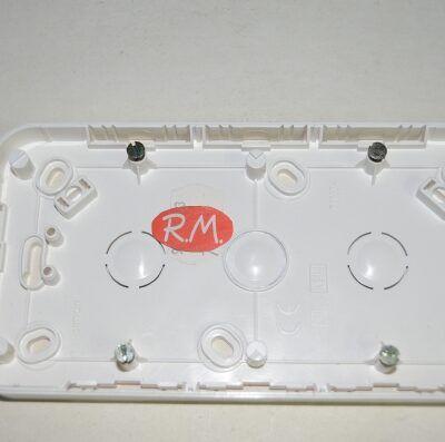 Caja de superficie para 2 elementos Simón 73 73760-30 blanco