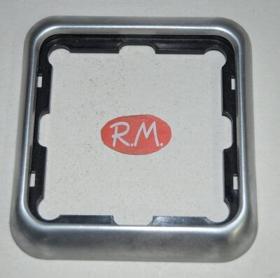 Marco 1 elemento Simon 75 75610-33 aluminio
