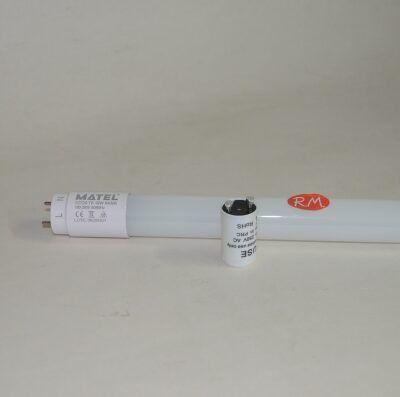 Tubo fluorescente led con cebador T8 18W 6400K