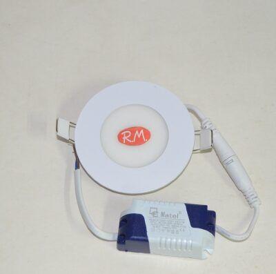 Downlight led empotrar redondo blanco 3W 6400K