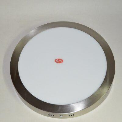 Downlight led superficie redondo plata 24W 2700K