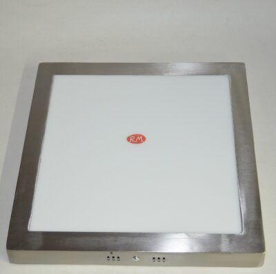 Downlight led superficie cuadrado plata 24W 4000K