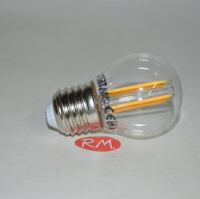 Bombilla led esférica filamento E27 4W 2700K