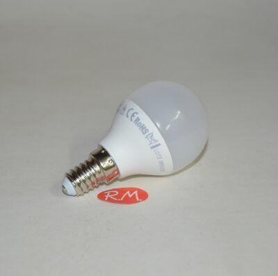 Bombilla led esférica E14 6W 4200K