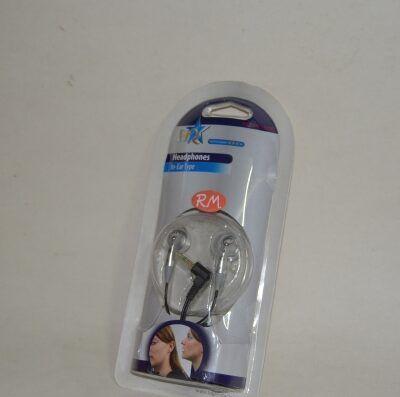 Auriculares internos de botón plata