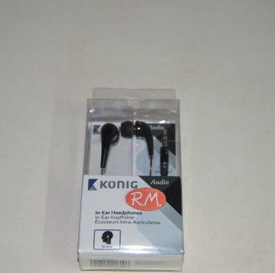 Auriculares internos de botón negro