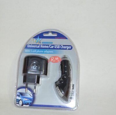 Cargador USB universal para coche y casa
