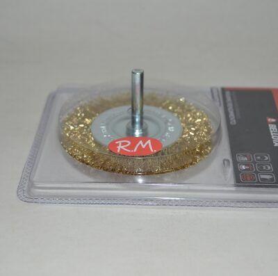 Cepillo circular alambre con espiga 75 mm