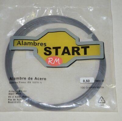 Alambre acero cuerda piano 0.50mm 100gr