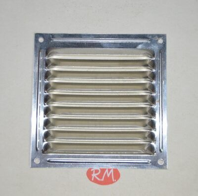 Rejilla plana aluminio 10 x 10 cm