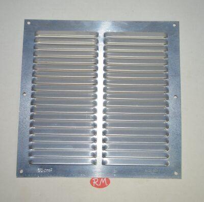 Rejilla plana aluminio 20 x 20 cm