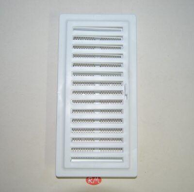 Rejilla empotrar con mosquitera blanca 12 x 25 cm con cierre