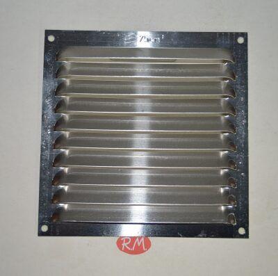 Rejilla plana aluminio adhesiva 15 x 15 cm