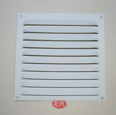 Rejilla plana aluminio adhesiva blanca 15 x 15 cm