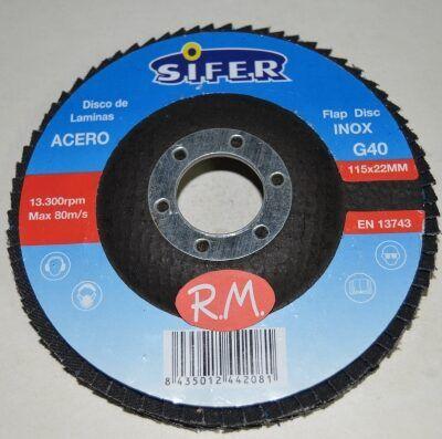 Disco abrasivo 115 mm grano 40