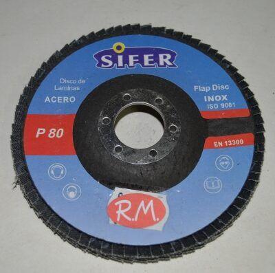 Disco abrasivo 115 mm grano 80
