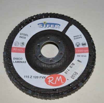 Disco abrasivo 115 mm grano 120