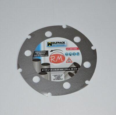 Disco corte para plásticos Ø115 mm