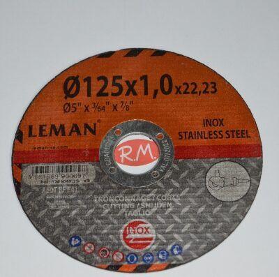 Disco corte Inox 125 x 1 x 22.23 mm