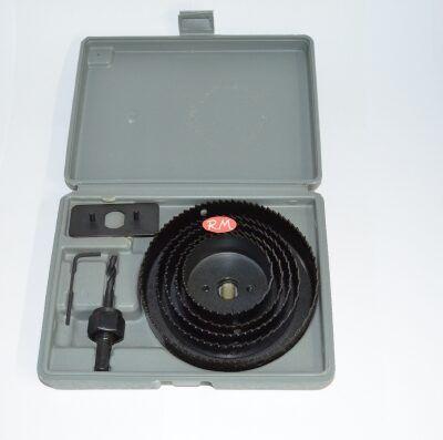 Juego 5 sierras corona de 64 a 127 mm