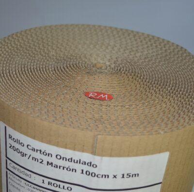 Cartón ondulado en rollo de 1 x 15 metros