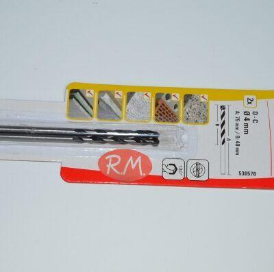 2 Broca para hormigón Fischer D-C 4 x 75 mm 530576