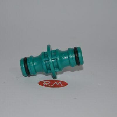 """Conector dos acoplamientos rápidos de riego 1/2"""" 16 mm"""