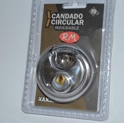 Candado circular inoxidable 70 mm