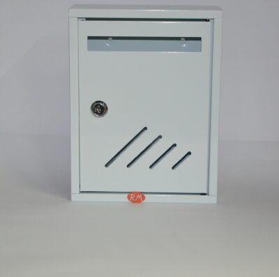 Buzón metálico interior 27 x 20 cm blanco